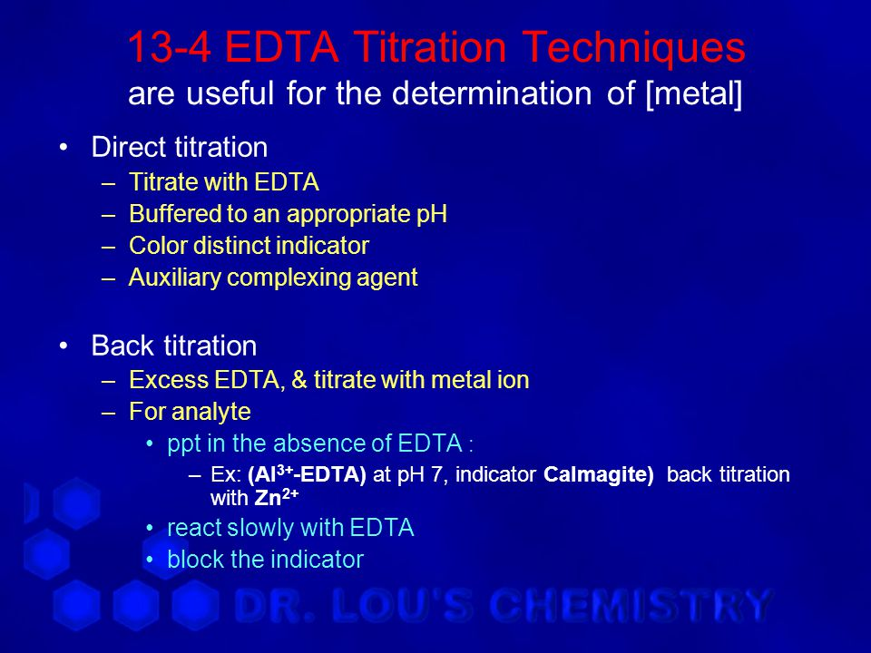 edta titration determination of mg2 Ch 11: edta titrations to allow accurate determination three regions in an edta titration illustrated for reaction of 500 ml of.